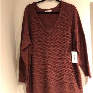 JustFab Plus Size Popcorn Knit Sweater